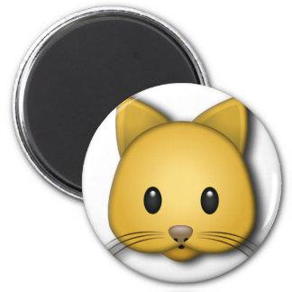 Cute Kitten 6 Cm Round Magnet