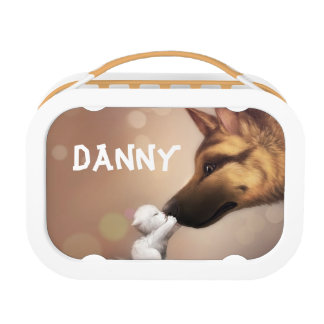 Cute Kitten and Dog Lunch Box Kids School