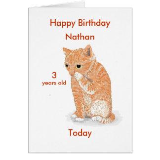 Cute Kitten Birthday cards