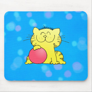 Cute Kitten Bowler Mouse Mat
