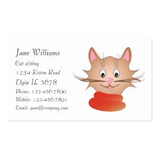 Cute kitten business card templates