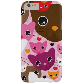 cute kitten cat background pattern barely there iPhone 6 plus case