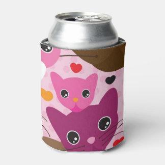 cute kitten cat background pattern can cooler