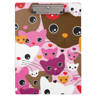 cute kitten cat background pattern clipboard