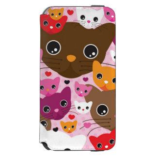 cute kitten cat background pattern incipio watson™ iPhone 6 wallet case