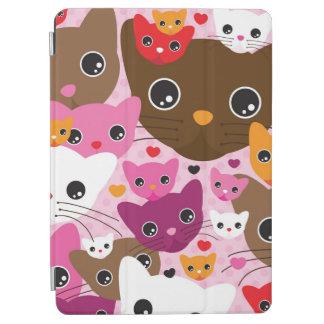 cute kitten cat background pattern iPad air cover