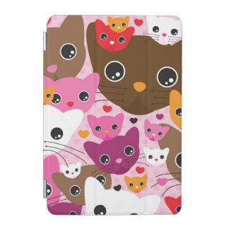 cute kitten cat background pattern iPad mini cover