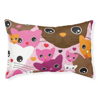cute kitten cat background pattern pet bed
