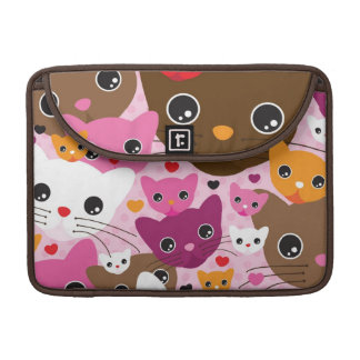 cute kitten cat background pattern sleeve for MacBooks