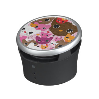 cute kitten cat background pattern speaker