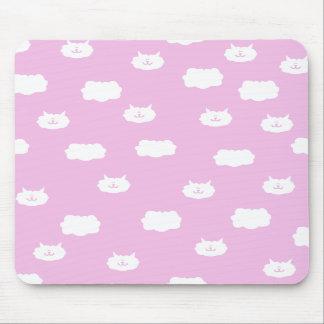 Cute Kitten Clouds Mousepad - Pink