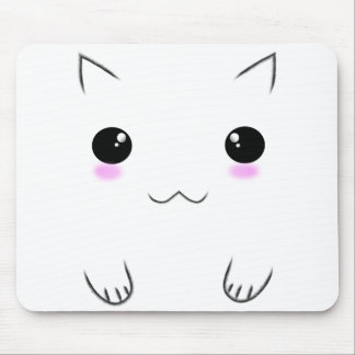 Cute Kitten Face Mouse Pad