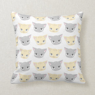 Cute Kitten Face Pattern Cushion