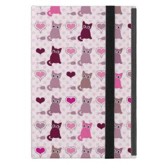 Cute kitten girls pattern case for iPad mini