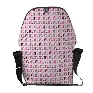 Cute kitten girls pattern commuter bag