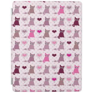 Cute kitten girls pattern iPad cover