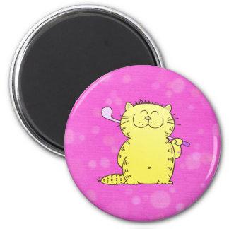 Cute Kitten Golf Refrigerator Magnets