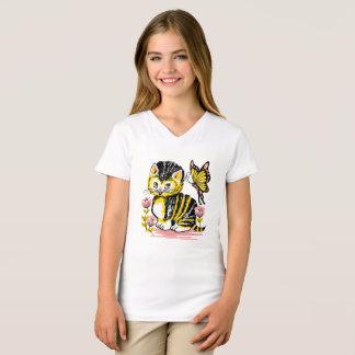 Cute Kitten Graphics Girl's Shirt