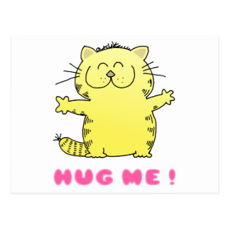 Cute Kitten Hug Postcard