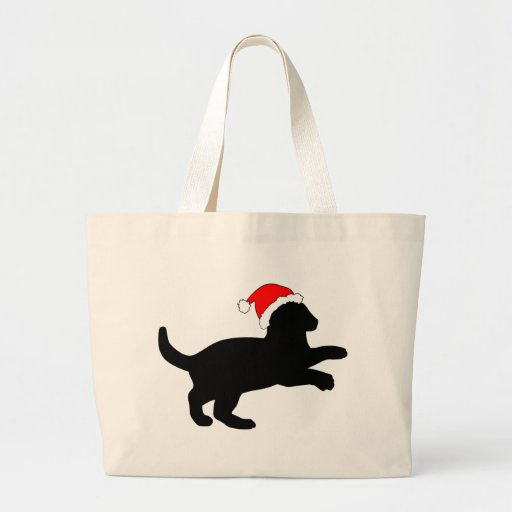 Cute Kitten in a Christmas Hat. Tote Bag