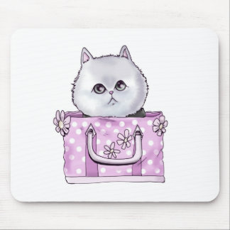 CUTE KITTEN IN A PURSE MOUSE PAD