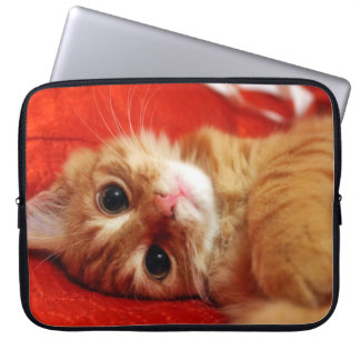 cute kitten laptop sleeve