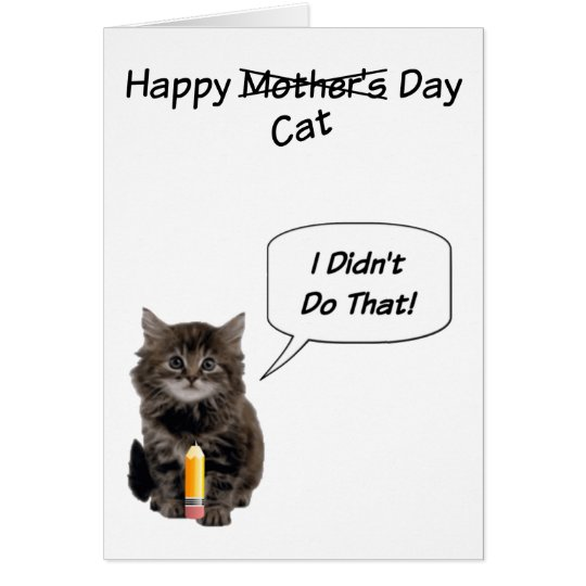 Cute Kitten Mother's Day Cards