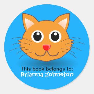 Cute Kitten Personalised Name Label