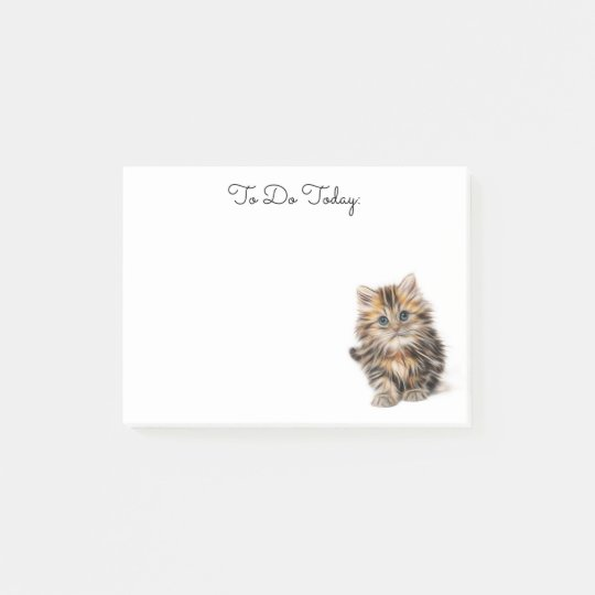 Cute Kitten Personalised Post it Notes