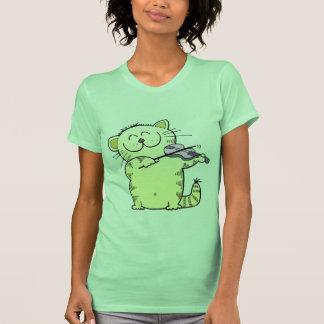 Cute Kitten Play Violin Tee Shirts