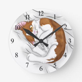Cute Kitten Round Clock