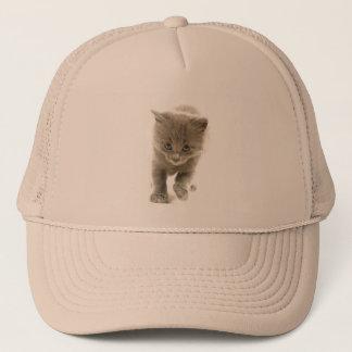 cute kitten trucker hat