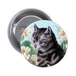 Cute kitten - vintage cat art badge