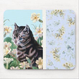 Cute kitten - vintage cat art mousepads