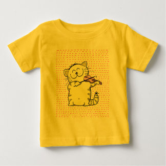 Cute-Kitten-violinist Baby T-Shirt