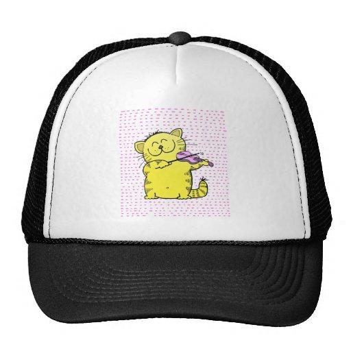 Cute-Kitten-violinist Mesh Hats