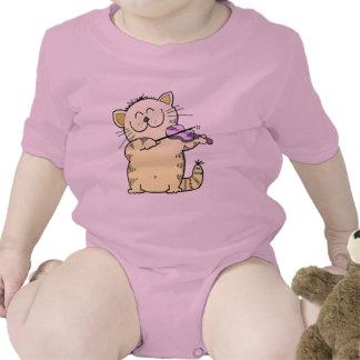 Cute Kitten Violinist T-shirts