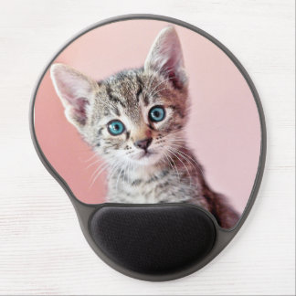 Cute kitten with blue eyes. gel mouse pad