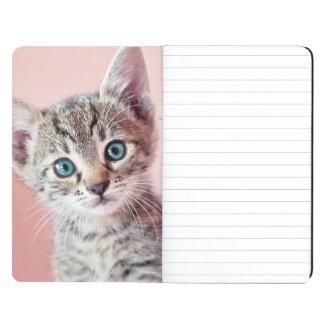Cute kitten with blue eyes. journal
