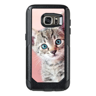 Cute kitten with blue eyes. OtterBox samsung galaxy s7 case