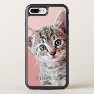 Cute kitten with blue eyes. OtterBox symmetry iPhone 7 plus case