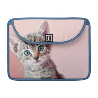 Cute kitten with blue eyes. sleeve for MacBook pro