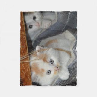 Cute Kittens in boots Fleece Blanket