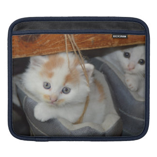 Cute Kittens in boots iPad Sleeve