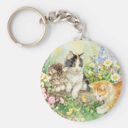 Cute Kittens Key Chain