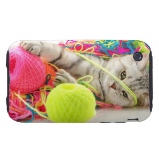 Cute Kitty Tough iPhone 3 Cases