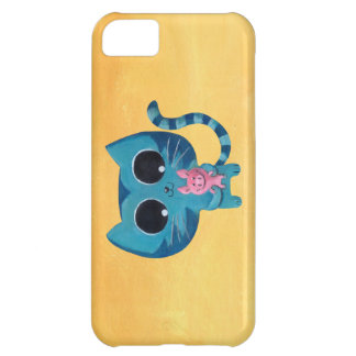 Cute Kitty Cat and Pig iPhone 5C Case