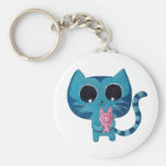 Cute Kitty Cat and Pig Keychains