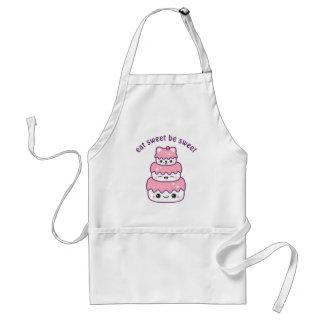 Cute Kitty Cat Cake Standard Apron