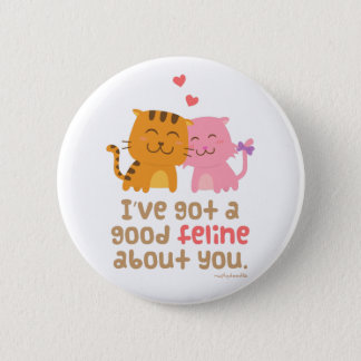 Cute Kitty Cat Feline Love Confession Pun Humor 6 Cm Round Badge